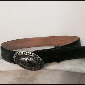 Vintage Black Brighton Belt